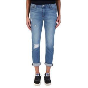 Black Orchid drop out distressed cropped jeans